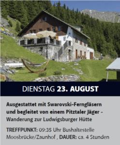 Section in brochure Pitztal tourist bureau about Ludwigsburger hütte