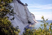 Møns Klint in Denmark  (colour negative from August 1986, scanned in December 2009)