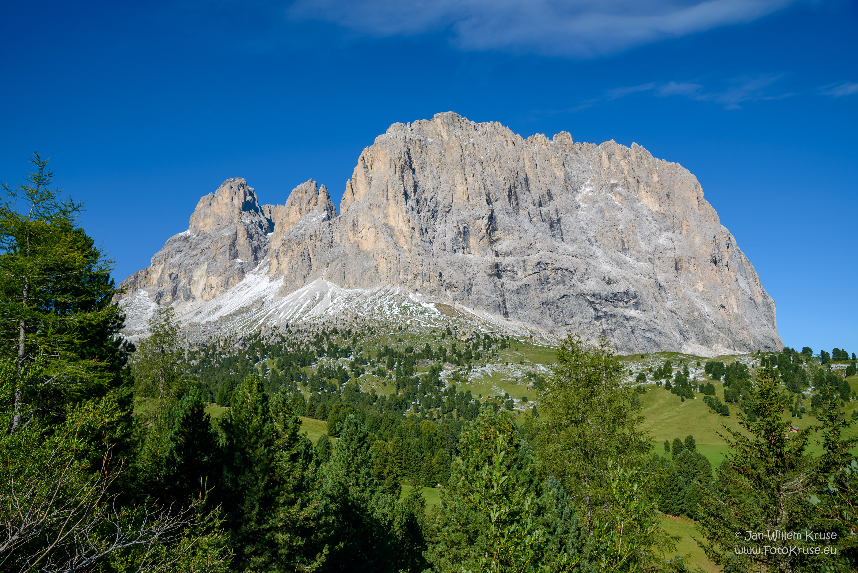 Langkofel Group in the Italian Dolomites