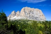 The Langkofel Group (Gruppo del Sassolungo) from the North-East