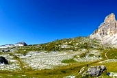 Sella Pass with the Langkofel group and the Sella group (360 degrees panorama)