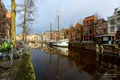 Sailing ship 'Mars' in the city of Groningen
