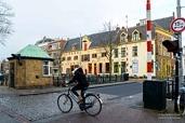 Visserbrug in the city Groningen