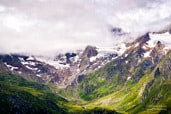 View on Italian alps from the Timmelsjoch pass in Austria