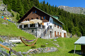 The Ludwigsburger Hütte in the valley Pitztal in Austria